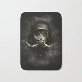 Vintage, soujer, warrior gas mask Bath Mat