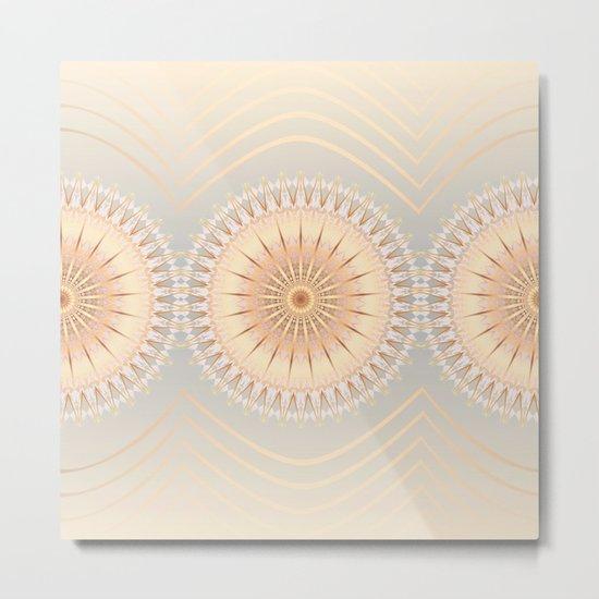Gold Mandalas Metal Print