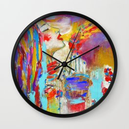 Colorful Wishes Wall Clock