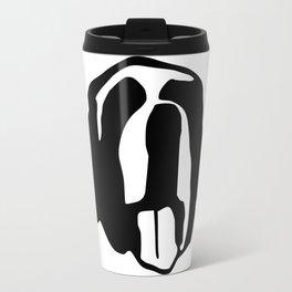 Saint Bernard face silhouette, Bernese Mountain Dog, Newfoundland Travel Mug