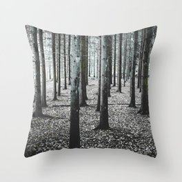 Coma forest Throw Pillow