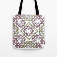 celtic Tote Bags featuring Celtic Knotwork by Carrie at Dendryad Art
