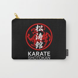 Shotokan Karate Symbol and Kanji white text Carry-All Pouch