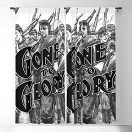Gone To Glory B&W Blackout Curtain