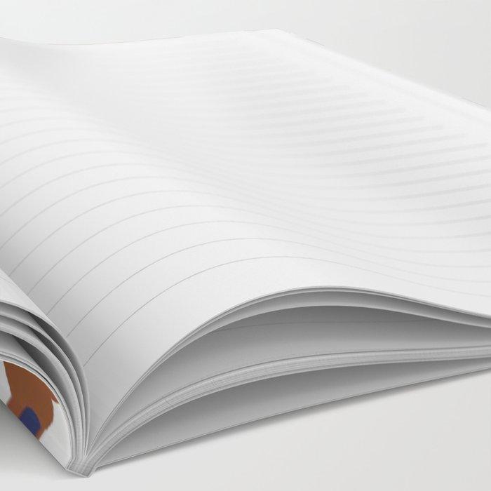 Moroccan Tile - poppy Notebook