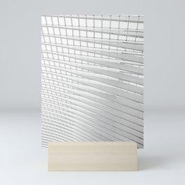 Follow the light trough the lines 5 | Railwaystation Belgium | Fine art architecture photography | Mini Art Print