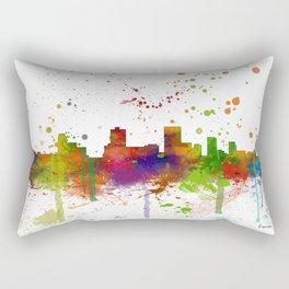 Anchorage Skyline Rectangular Pillow