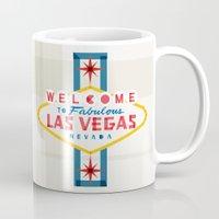 las vegas Mugs featuring Las Vegas by Fimbis