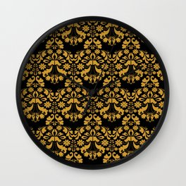 Golden ornament in baroque style Wall Clock