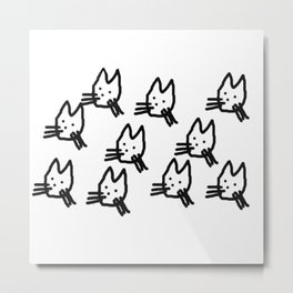 Cats Are Grand Metal Print