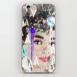 Audrey Type Abstract Art iPhone Skin