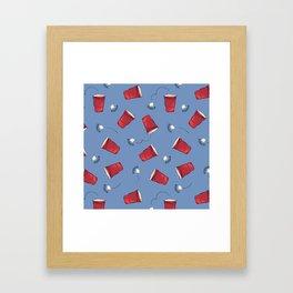 Beer Pong Winner Framed Art Print