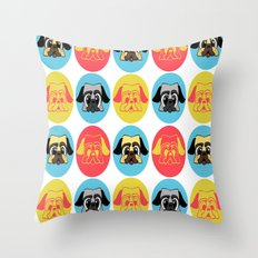 pugpug Throw Pillow