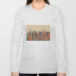 Wellington City Skyline, NZ - Navaho Long Sleeve T-shirt