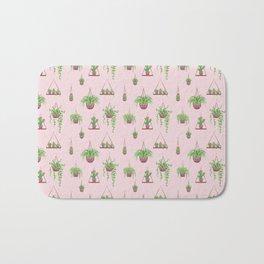 Mother, Macramé I? - Hanging Plants on Pink Bath Mat