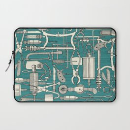 fiendish incisions blue Laptop Sleeve