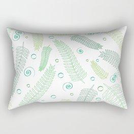 Green palm tree leaves Rectangular Pillow