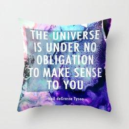 Neil deGrasse Tyson Inspired - Universe Cell Print Throw Pillow