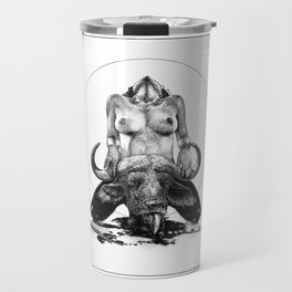 asc 729 - La lune de chasse (Two went in. I came out) Travel Mug
