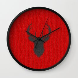 Antiallergenic Hand Knitted Deer Winter Wool Texture - Mix & Match with Simplicty of life Wall Clock