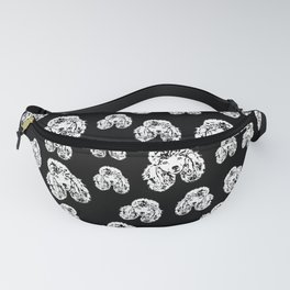 POODLE DOG AND FRIEND Fanny Pack
