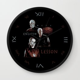 Here Endeth the Lesson Wall Clock