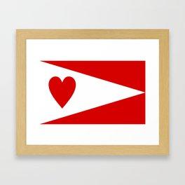 lanarkshire flag Framed Art Print
