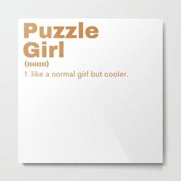 Puzzle Girl - Puzzle Metal Print