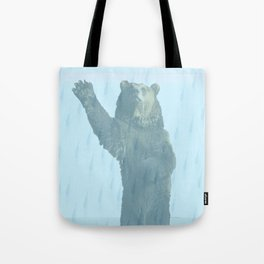 Dancing bears in the shower Tote Bag