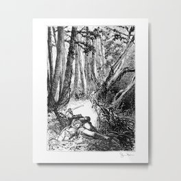 Murder in the Pines Metal Print