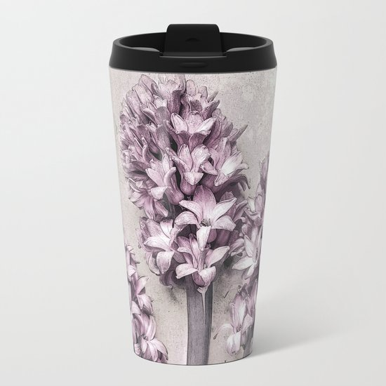 Delicate Hyacinths Metal Travel Mug