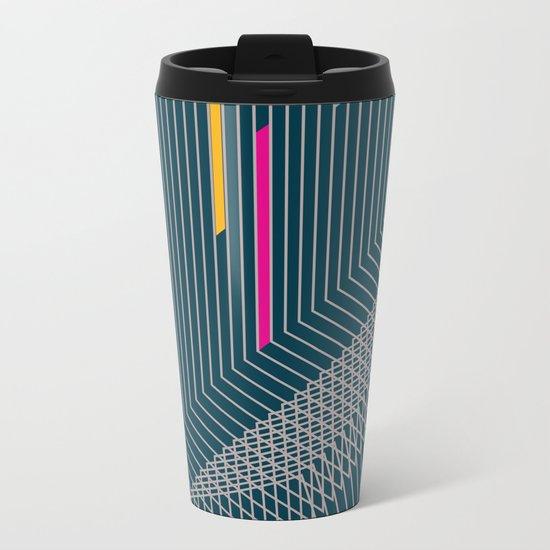 Geometric 1 Metal Travel Mug