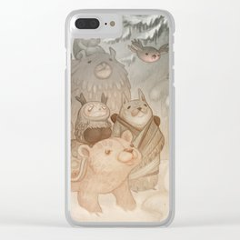 Magic snow Clear iPhone Case