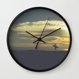 Santa Cruz Surfer II Wall Clock