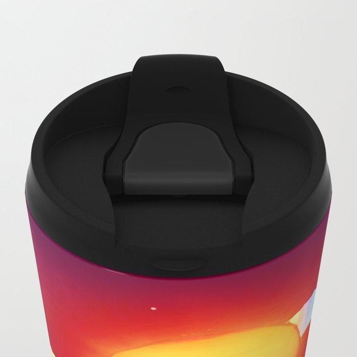 Sun Head Metal Travel Mug
