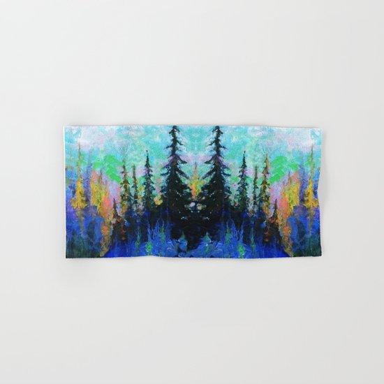 Blue Spruce Island Abstract Art Hand & Bath Towel
