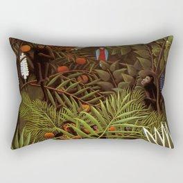 """Henri Rousseau """"Exotic landscape"""", 1908 Rectangular Pillow"""