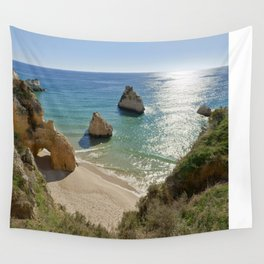 cliff formations at Alvor, Portugal Wall Tapestry