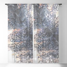 Feather leaf Sheer Curtain