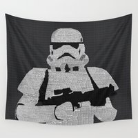 stormtrooper Wall Tapestries featuring Stormtrooper by  Steve Wade ( Swade)