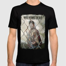 The Walking Dead Black 2X-LARGE Mens Fitted Tee
