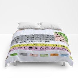 Typographic Periodic Table Comforters