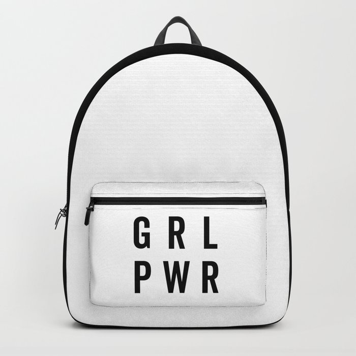 GRL PWR / Girl Power Quote Rucksack