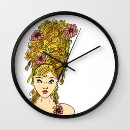 Flower Girl II Wall Clock
