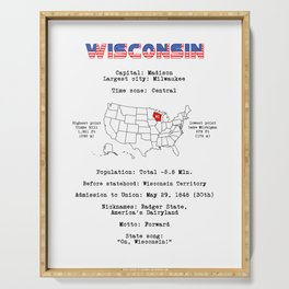 Wisconsin Serving Tray
