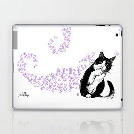 Tuxedo cat and dragonflies Laptop & iPad Skin