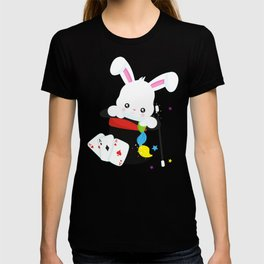 White Bunny Coming Out Of A Hat, Magic Trick T-shirt