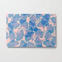 Abstraction_Ginkgo_Pattern_Minimalism_002 Metal Print