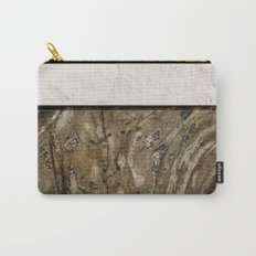 Cream Cement and Gnarled Wood Patterns Carry-All Pouch