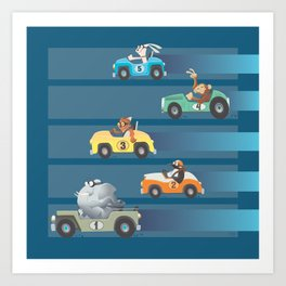 The Great Animal International Invitational Race Art Print